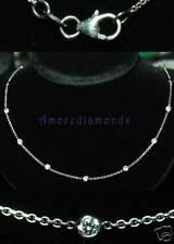 "2.4 ct round diamond by the yard eyeglass bezel necklace white gold 12 dia 20"""
