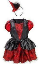 NWT CHILDREN'S PLACE WITCH COSTUME 4 TCP HALLOWEEN DRESS HAT RED BLACK SPIDERS