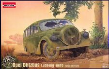 RODEN Opel Blitz Bus Blitzbus Ludewig Aero Wehrmacht Modell-Bausatz 1:72 NEU kit