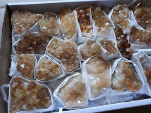 DRUSA QUARZO CITRINO minerale naturale terzo chakra qualità A++ feng shui casa