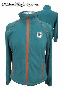 Miami Dolphins Women M, L, XL Full-Zip Fleece Jacket NFL G-III Turquoise
