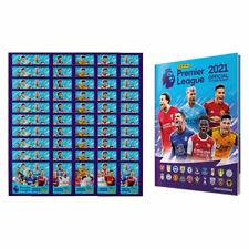 Panini 2020-21 English Premier League Soccer Pegatinas 50 paquetes + álbum de tapa dura