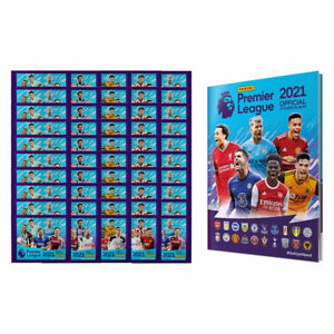 Panini 2020-21 English Premier League Soccer Stickers 50 Pack + Soft Cover Album