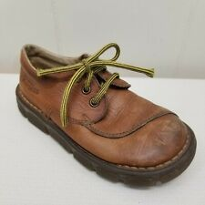 Doc Dr Martens Kids US11 Shoes Lace Up Made in England Brown Leather UK10 EU28