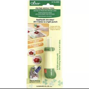 Clover Needle Felting Tool Art No. 8900 Safety Locking No glue or thread needed