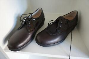 FINN COMFORT Ancona Damen Schuhe Schnürschuhe Gr.6,5 / 40 Lack Leder braun NEU .