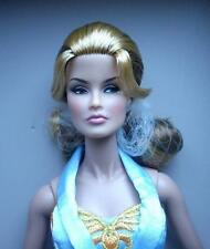 """12"""" Fr~Cover Girl Veronique Blue Satin Gown Dressed Doll~SuperModel~No Accessory"""