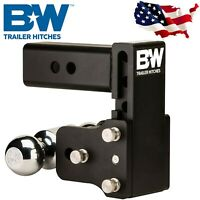 B&W Hitches TS10037B Tow and Stow Magnum Receiver Hitch Ball Mount