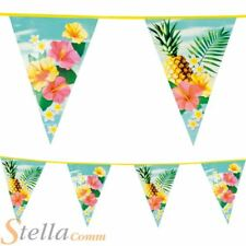 6m Triangular Paradise Hawaiian Beach Party Lei Bunting Party Flag Decoration