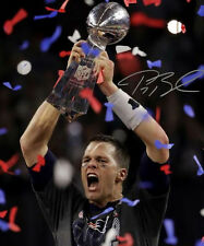 * TOM BRADY SIGNED PHOTO 8X10 RP AUTOGRAPH BIGGEST SUPERBOWL COMEBACK IN HISTORY