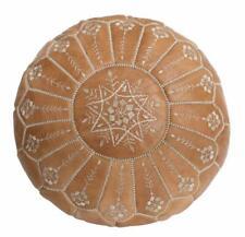 Authentic MOROCCAN POUF Leather Pouf Ottoman Pouffe footstool