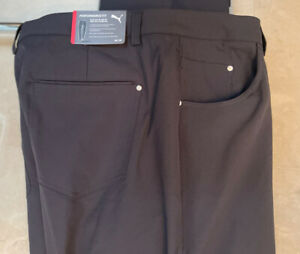 Puma Golf Jackpot 6 Pocket Black Performance Golf Pants 38-30 NWT