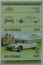 1972 CITROEN MASERATI SM COUPE Car Stamps (Leaders of the World / Auto 100)