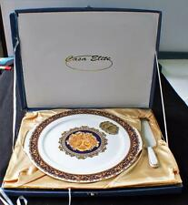 "Box Signed T. LIMOGES Bone China France BACCHUS 12 1/2"" Set Cake Plate w Spatula"
