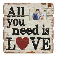 JULIANA ALL YOU NEED IS LOVE  MDF WALL PLAQUE NEW GIFT BOXED 60954