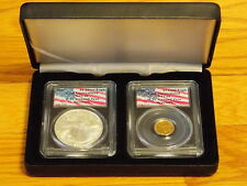2001 Gold & Silver Eagle 1 of 1440 complete set WTC World Trade Center 911