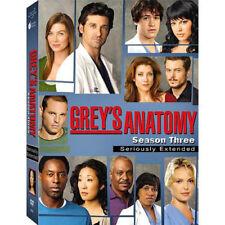 GREYS ANATOMY SEASON 3 (DVD, 2007, 7-Disc Set, Seriously Extended)