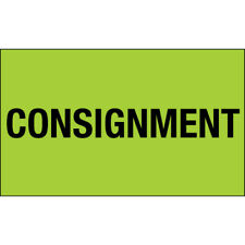 3 X 5 Consignment Labels Green 500roll