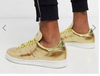 Adidas Originals Metallic All Gold Stan Smith RARE Men's Trainers Sneakers DRIP!