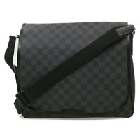 LOUIS VUITTON Damier Graphite District MM Shoulder Bag N41272 LV Auth 18089