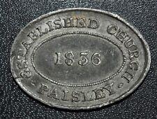 1836 Paisley, Renfrewshire, Scotland - Communion Token
