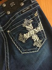 Miss Me Jeans, Denim, Embellished, blue, medium wash, Size 26 x 34