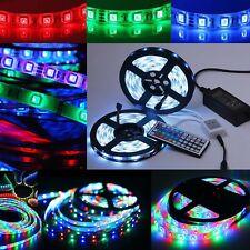 LED RGB 5m STRISCIA Stripe Barra Strisce 5050 3528 SMD Banda Luci Luce Lampada