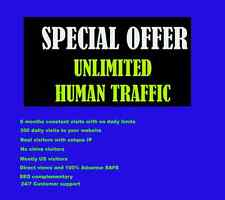 Genuine Unlimited Daily 300+ Website Traffic for 6 months