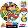 🏅30 PCS. POKEMON CUPCAKES CAKE EDIBLE TOPPERS WAfer Paper BIRTHDAY PARTY EVENT