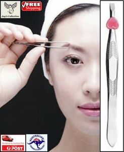 Stainless Steel Slanted Eyebrow Tweezer Face Hair Removal Makeup Tool [A1J~A3]