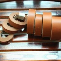 Quality Brown Fatty Vegetable Tanned Leather jeans Belt Blank for leathercraft
