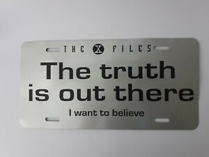 Promotional The X-Files US / Canandian Vehicle License Plate Tag