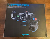 BRAND NEW IN HAND LOGITECH G SAITEK PRO FLIGHT YOKE SYSTEM FOR FLIGHT SIMULATOR!