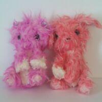 """Scruff a Luvs Kitten Cat 8"""" Purple / Pink Plush Stuffed Animals Moose Toy Lot 2"""