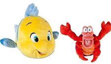 NEW Disney The Little Mermaid Flounder and Sebastian Plush Set Stuffed Animals