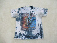 ACDC Concert Shirt Adult Small Gray Blue Rock Music Tour Band Tie Dye Mens *