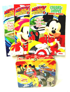 Disney Mickey & The Roadster Racers 24 Pc Puzzle Lunch Box 3 Learning Workbooks