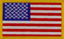 "50 Pcs USA Flag (G) Embroidered Patches 3.25""x2"" iron-on, Special Price."