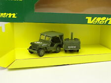 Verem Militare Esercito 1/50 - Jeep Willys + Cantine Popeye USA 1940