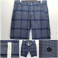 Lululemon Mens Size 34 Shorts Blue White Check