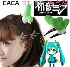 1pc Green Chinese Onion Short Plush Hairpin Anime Vocaloid Hatsune Miku Cosplay