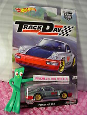 2016 Track Day PORSCHE 964☆Gray/Red/Blue;Real Riders☆Hot Wheels Car Culture