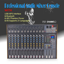 12 Channel Professional Stereo Mixer Audio Mixing Console Sound Console Desk
