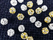 Silver fancy round diamante buttons for crafting x4 bridal party suit