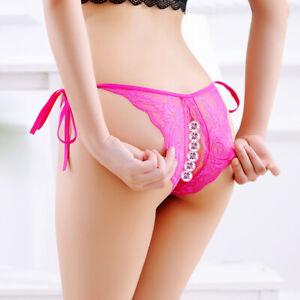 Women Low Waist Sexy Lace Underwear Briefs Thongs G-string Lingerie Panties