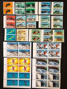 Anguilla #53-67(2),375-380(4) Complete Set MNH