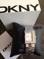 DKNY watch NY4508 Silver Women's bracelet logo with crystals