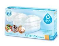 3x Kartuschen Dafi Unimax für Brita Maxtra PearlCo Wasserfilter Filterkartuschen