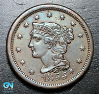 1855 Braided Hair Large Cent --  MAKE US AN OFFER!  #B3710