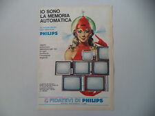 advertising Pubblicità 1967 TELEVISORI PHILIPS 11 19 23 25 POLLICI ''